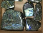 Wholesale Lot: 27+ Lbs Free-Standing Polished Labradorite - 9 Pieces - #91342-2