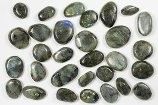 Lot: Polished Labradorite Pebbles - 1 kg (2.2 lbs) For Sale, #90545