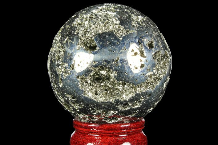 "2.5"" Polished Pyrite Sphere - Peru"