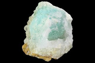"1.7"" Quartz on Chrysocolla & Calcite - Peru For Sale, #98096"