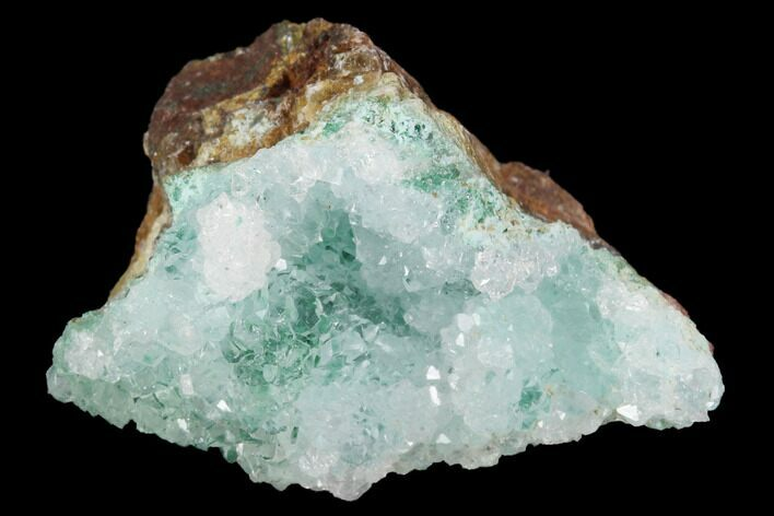 "1.4"" Quartz on Chrysocolla & Malachite - Peru"