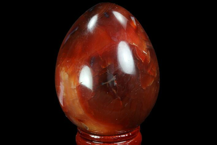"2.2"" Colorful Carnelian Agate Egg - Madagascar"