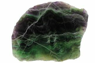 "Buy 6.8"" Polished Green & Purple Fluorite Slab - China - #98614"