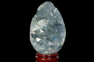 "Buy 4.75"" Crystal Filled Celestine (Celestite) ""Egg"" Geode - Madagascar - #98782"