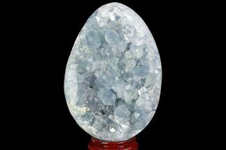 "5.9"" Crystal Filled Celestine (Celestite) ""Egg"" Geode - Madagascar For Sale, #98822"