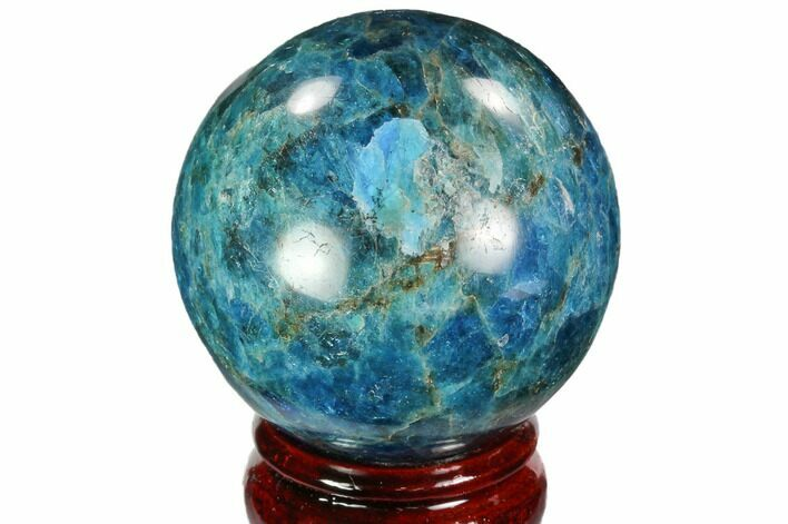 "2.3"" Bright Blue Apatite Sphere - Madagascar"