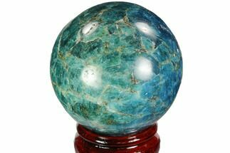 "Buy 2.4"" Bright Blue Apatite Sphere - Madagascar - #100303"