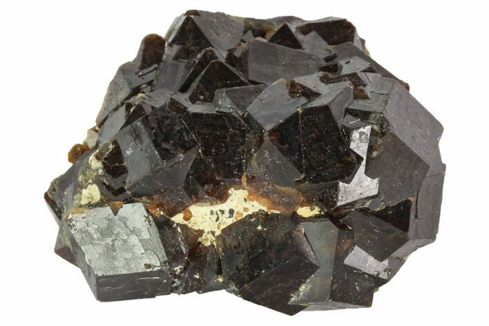 "1.7"" Garnet Cluster with Feldspar - Pakistan"