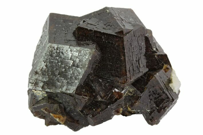 "1.2"" Garnet Cluster with Feldspar - Pakistan"