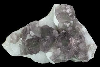 "Buy 5.4"" Purple Fluorite Crystals on Druzy Quartz - China - #100729"
