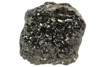 "1.9"" Black Andradite (Melanite) Garnet Cluster - Kazakhstan For Sale, #102449"