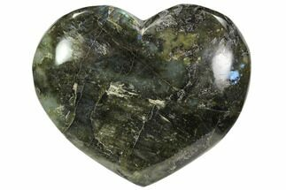 "Buy 4.3"" Flashy Polished Labradorite Heart - #62938"