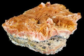 "4"" Pink and Orange Bladed Barite - Mibladen, Morocco For Sale, #103730"