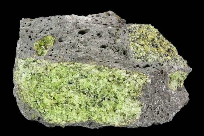 "4.3"" Peridot in Basalt - Arizona"