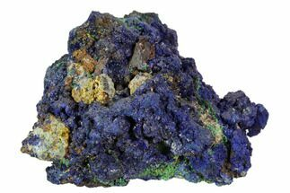 "Buy 3.2"" Sparkling Azurite and Malachite Crystal Cluster - Morocco - #104386"