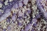 "3.4"" Purple, Botryoidal Grape Agate With Quartz - Indonesia - #105267-2"