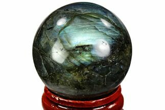 "Buy 1.3"" Flashy, Polished Labradorite Sphere - Great Color Play - #105781"