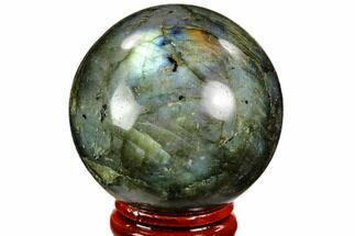 "1.85"" Flashy, Polished Labradorite Sphere - Great Color Play For Sale, #105791"