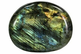 "Buy 3.3"" Flashy, Polished Labradorite Pebble - Madagascar - #105913"
