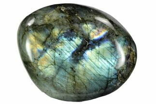 "3.4"" Flashy, Polished Labradorite Pebble - Madagascar For Sale, #105911"