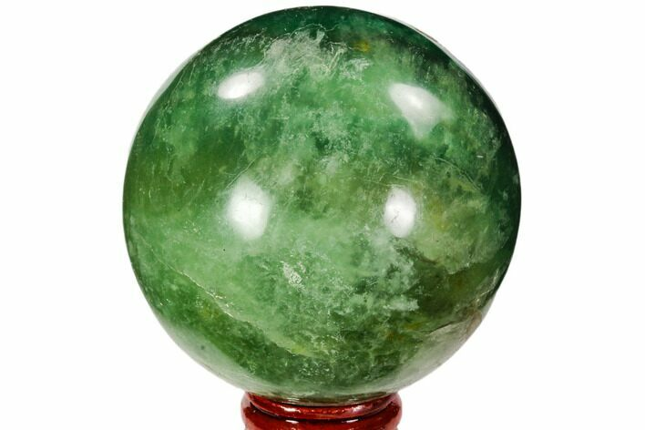 "2.8"" Polished Green Fluorite Sphere - Madagascar"