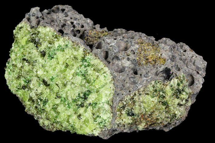 "2.8"" Peridot in Basalt - Arizona"