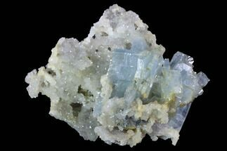 "3"" Blue Bladed Barite and Druzy Quartz Association - Morocco For Sale, #91427"