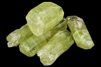 "Buy Bag Of Five Yellow Apatite Crystals (.5"" - 1"") - Morocco - #108370"