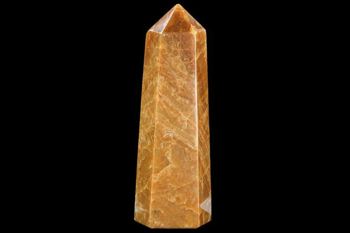 "10"" Polished, Orange Calcite Obelisk - Madagascar"