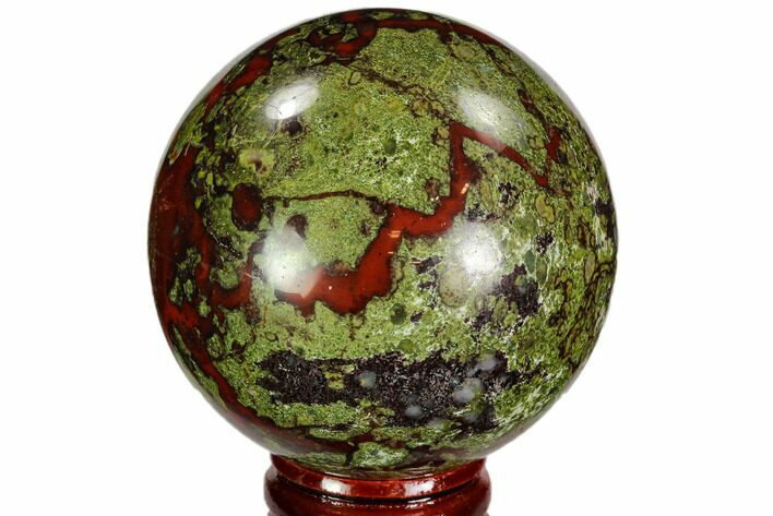 "2.35"" Polished Dragon's Blood Jasper Sphere - South Africa"