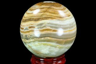 "3.45"" Polished, Green (Jade) Onyx Sphere - Afghanistan For Sale, #108569"