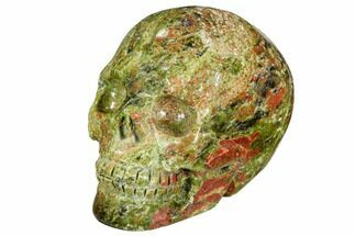 "2.4"" Carved, Unakite Skull - South Africa For Sale, #108764"