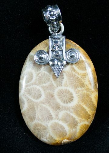 Beautiful Fossil Coral Pendant