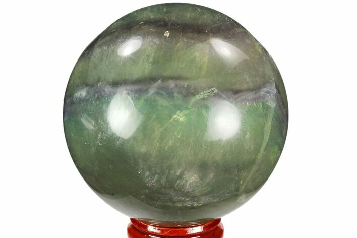 "2.6"" Colorful, Banded Fluorite Sphere - China"
