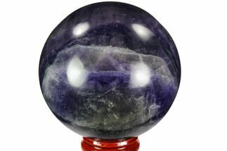 "2.7"" Colorful, Purple Fluorite Sphere - China For Sale, #109646"