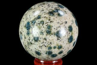 "Buy 2.3"" Polished K2 Granite (Granite With Azurite) Sphere - Pakistan - #109750"