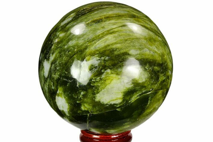"2.9"" Polished Serpentine Sphere - Pakistan"