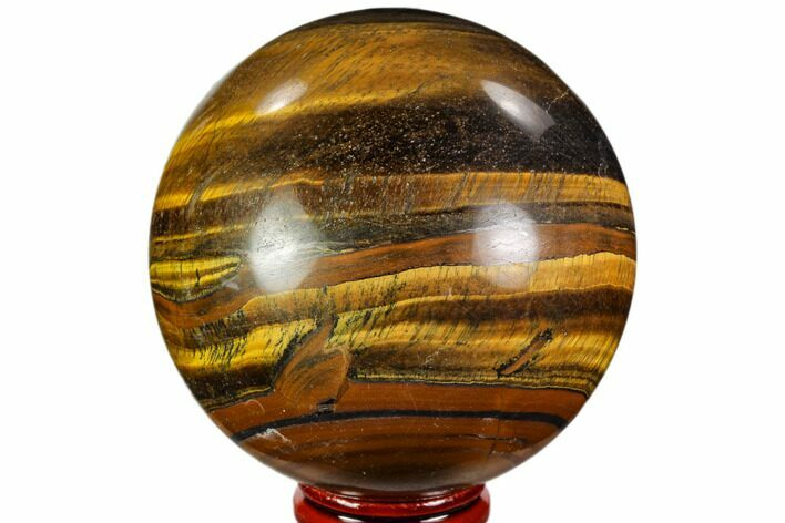 "2.8"" Polished Tiger's Eye Sphere - Africa"