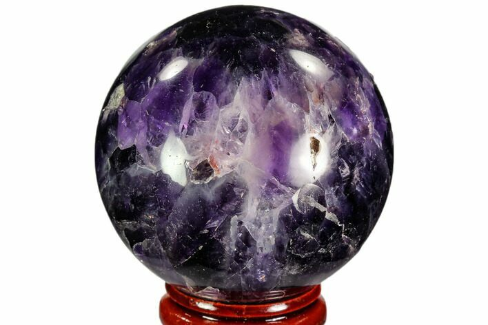 "2"" Polished Chevron Amethyst Sphere - Morocco"