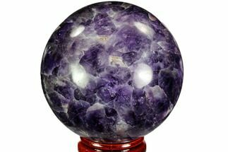 "2.3"" Polished Chevron Amethyst Sphere - Morocco For Sale, #110222"