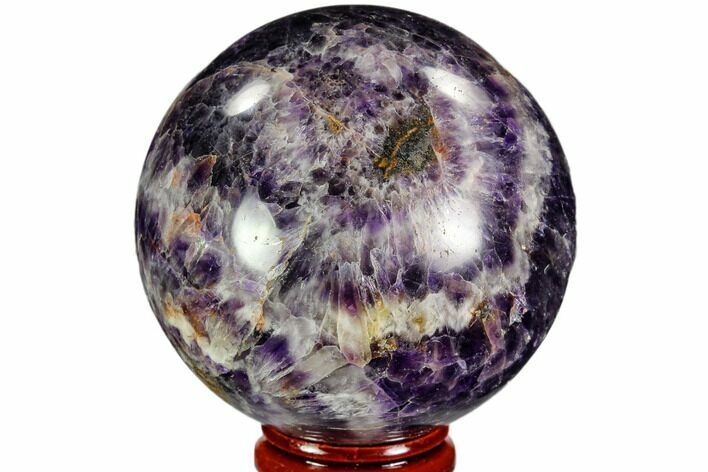 "2.45"" Polished Chevron Amethyst Sphere - Morocco"