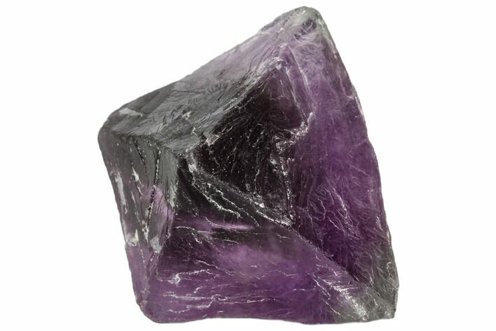 "2.4"" Purple Fluorite Octahedron - China"