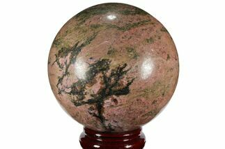 "5.7"" Polished Rhodonite Sphere - Madagascar For Sale, #111065"