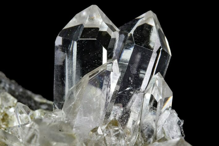 "1.9"" Quartz and Adularia Crystal Association - Norway"
