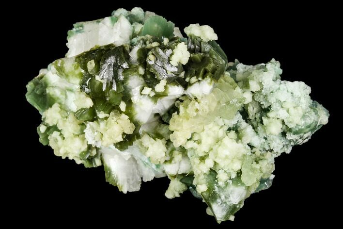 "3.7"" Apophyllite on Multi-Colored Heulandite - Sakur, India"