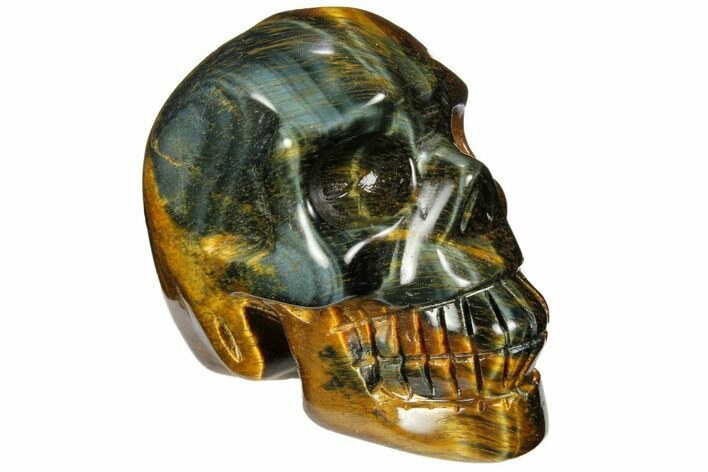 "2.35"" Polished Tiger's Eye Skull - Crystal Skull"