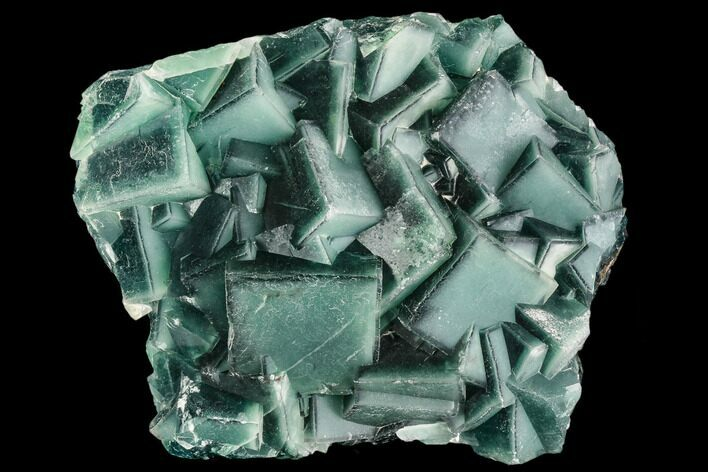 "6.3"" Cubic, Green Fluorite with ""Blue Core"" Phantoms - China"
