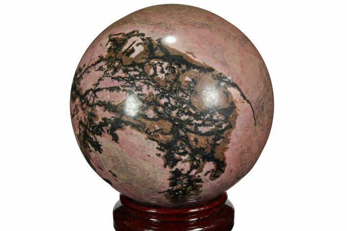 "4.8"" Polished Rhodonite Sphere - Madagascar"