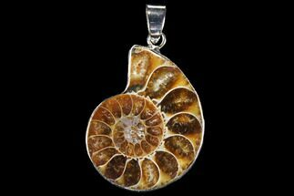 "Buy 1.2"" Fossil Ammonite Pendant - 110 Million Years Old - #112426"