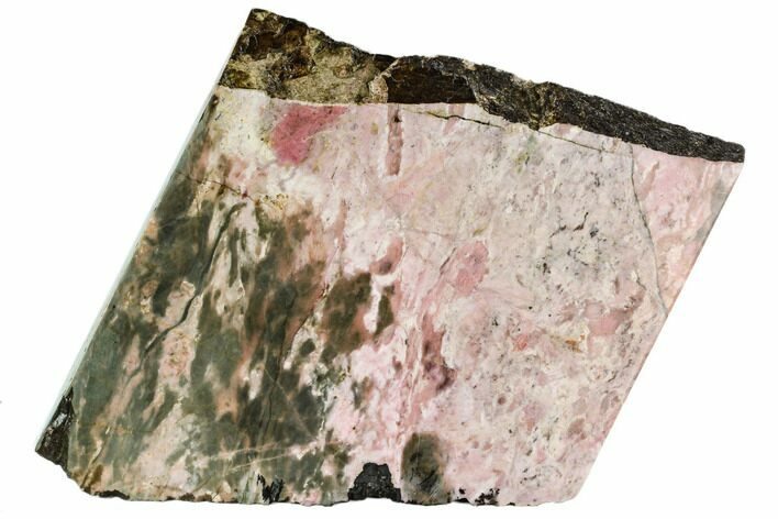 "10.3"" Free-Standing, Polished Rhodonite Section - Northern B.C."